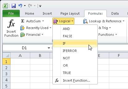 fungsi icon pada tab formulas microsoft excel 2007