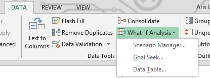 Consolidating data and what-if analysis in pivot