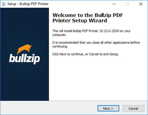 Menggunakan Bullzip PDF Printer