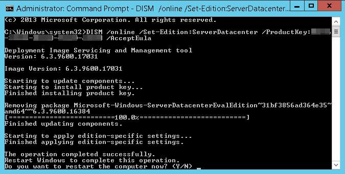 Merubah Windows Server Evaluation menjadi Full Version