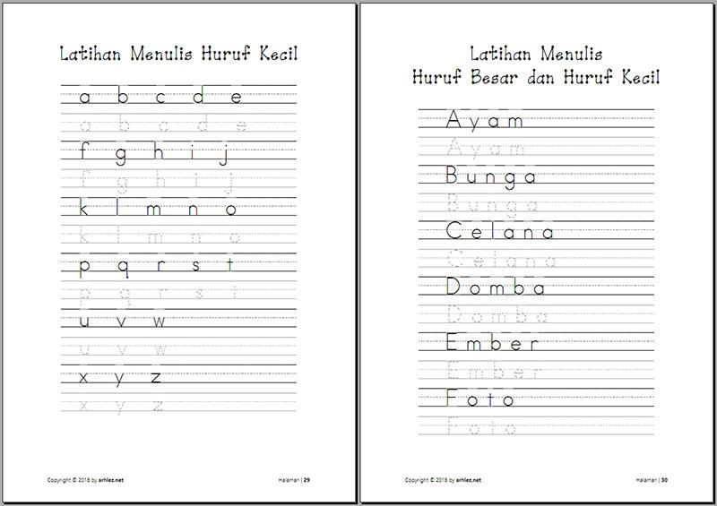 Belajar Menulis Huruf dan Angka untuk Balita