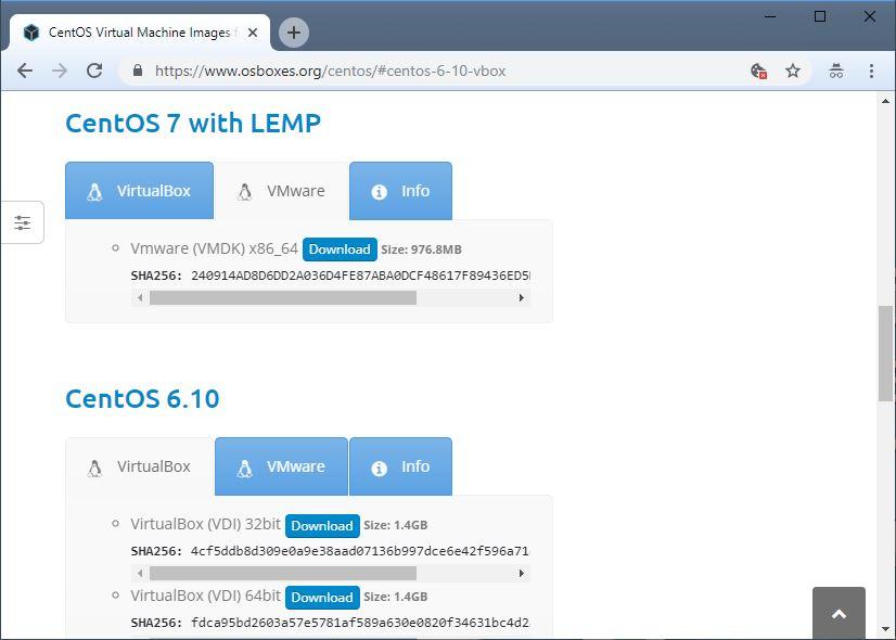 Download Kumpulan VM Distribusi Linux/Unix
