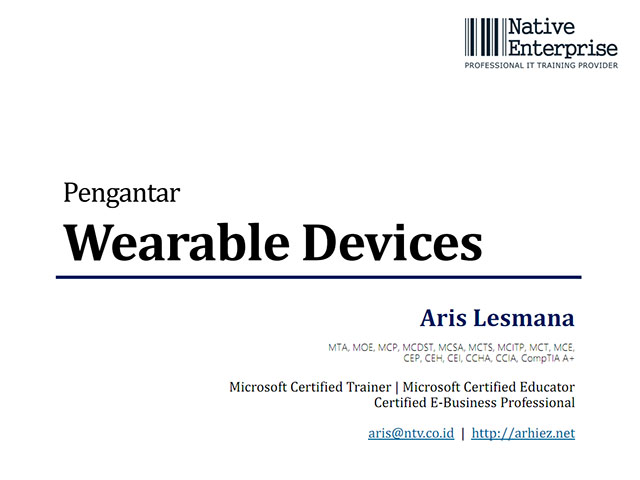 Pengantar Wearable Devices