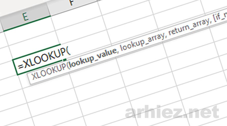 Fungsi XLOOKUP pada Excel