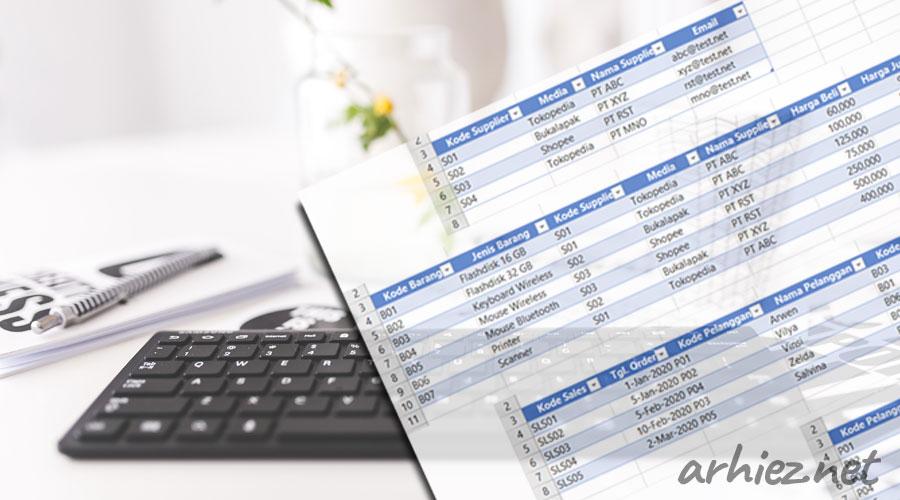 Membuat Tabel Data Penjualan Barang pada Excel untuk Penjual Online / Dropshipper