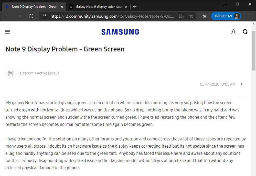 Solusi Masalah Green-Yellow Tint Samsung Galaxy Note 9_02