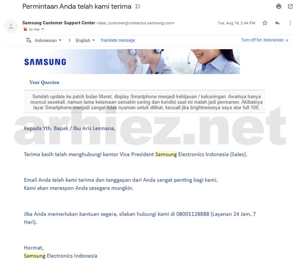 Solusi Masalah Green-Yellow Tint Samsung Galaxy Note 9_06